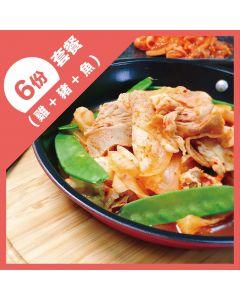 [原味時代]健康運動餐6餐-綜合口味(雞豬魚組合)