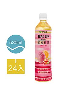 [伊藤園] 蜜桃紅茶 (24入組/每罐530ml)