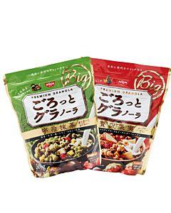 [日清Nissin]奢華楓糖水果麥片(500g/袋)&宇治抹茶麥片(500g/袋)和風增量組