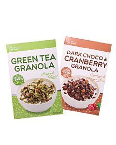 [Daily Boost]黑可可蔓越莓烤燕麥 (350g/盒) [Daily Boost]綠茶杏仁烤燕麥 (350g/盒)組合