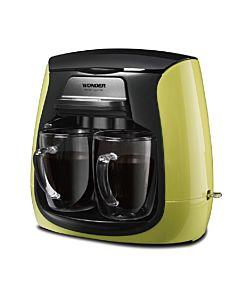 [Wonder旺德] 雙層玻璃杯雙人咖啡機WH-L03D (蘋果綠)