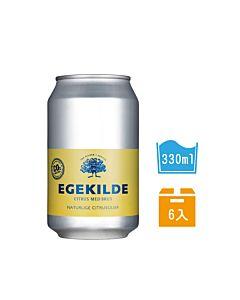 [丹麥 EGEKILDE伊克萊] 檸檬香氛氣泡礦泉水 (330ml*6入)
