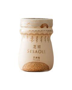 [芝初] 淺焙白芝麻粒 (110g/罐)