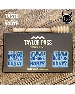 [紐西蘭TaylorPass] 藍色琉璃苣蜂蜜禮盒 (375g x 3瓶)