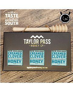[紐西蘭TaylorPass] 乳狀三葉草蜂蜜禮盒 (375g x 3瓶)
