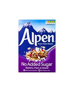 [Alpen歐寶] 無加糖藍莓,櫻桃,杏仁營養麥片 (560g/盒)