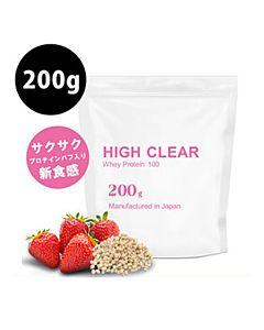 [日本 High Clear] 新食感濃縮乳清蛋白-香濃草莓口味(200g/袋)