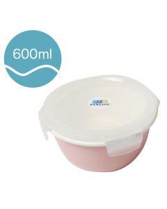 [Neoflam] 圓型陶瓷保鮮盒(600ml/粉紅色)