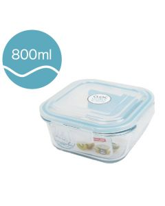 [Neoflam] CLOC系列玻璃保鮮盒 (正方形/800ml)