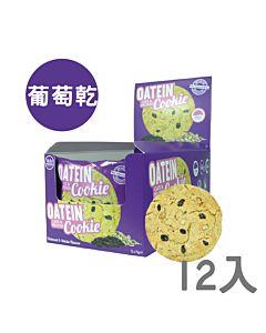 [英國 Oatein] 葡萄乾燕麥蛋白餅乾(75gx12)