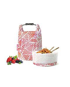 [ROLL'EAT] 亞洲限定桶裝食物袋-可裝湯水(粉紅葉子)
