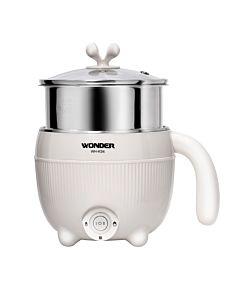 [WONDER 旺德] 雙層防燙不鏽鋼蒸籠美食鍋 WH-K34 (白色)