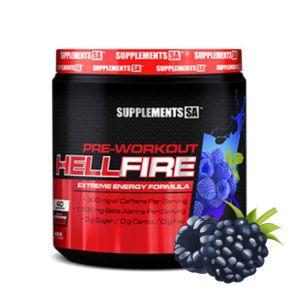 [南非 SUPPLEMENTS SA] Hellfire 訓練前營養補充食品-藍覆盆子(200g/罐)