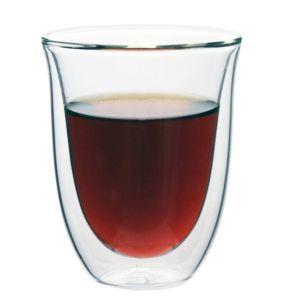 [iLoveGlass] 雙層隔冰熱玻璃曲線杯(300ml)