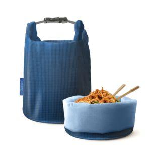 [Roll'eat] 西班牙桶裝食物袋 - 可裝湯水 (細方格藍亞洲限定款)