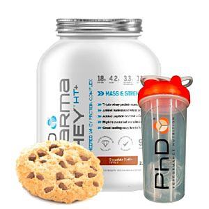 [優惠組合][英國 PhD Nutrition] 乳清蛋白粉-巧克力餅乾(2.25Kg/罐)+搖搖杯