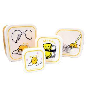 [蛋黃哥] 塑膠保鮮盒四件組 (580ml+350ml+220ml+100ml)