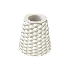 [日本製trico] 菱格珪藻土牙刷架2入(灰色)