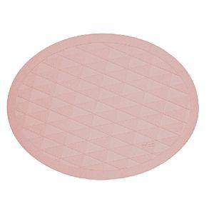 [日本製trico] 橢圓菱格瞬吸珪藻土地墊(粉紅色)