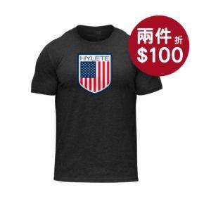 預購商品-[美國 Hylete] 訓練短袖-美國國旗