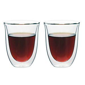 [iLoveGlass] 雙層隔冰熱玻璃曲線杯-2入組(300ml)
