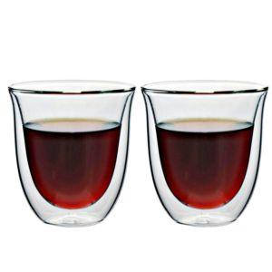 [iLoveGlass] 雙層隔冰熱玻璃曲線杯-2入組(230ml)