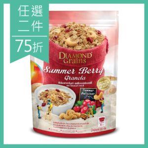 [泰國 DIAMOND Grains] 夏日莓果燕麥穀脆片-Summer berry (220g)