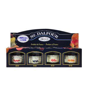 [法國St. Dalfour] 聖桃園天然小果醬 (28g/罐,四入組)