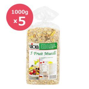 [VIOLA 麥維樂]  超值! 德國綜合水果穀片 5 包組 (1000g x 5包)