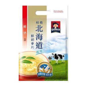 [桂格] 北海道鮮奶麥片-鮮奶茶口味(26g*12包/袋)