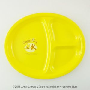 [Gaspard et Lisa 麗莎和卡斯柏] 分隔午餐盤-萊姆黃