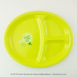 [Gaspard et Lisa 麗莎和卡斯柏] 分隔午餐盤-檸檬綠