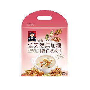 [桂格]全天然無添加糖超級穀珍-杏仁核桃味 (25g*10包/袋)