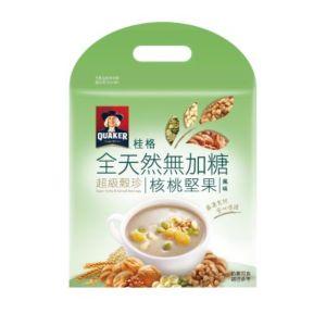 [桂格] 全天然無添加糖超級穀珍-核桃堅果風味 (28g*10包/袋)
