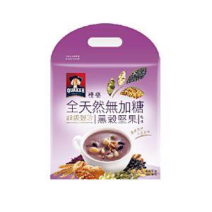 [桂格]全天然無添加糖超級穀珍-黑穀堅果味  (23g*10包/袋)
