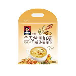 [桂格]全天然無添加糖超級穀珍-黃金堅果味 (25g*10包/袋)