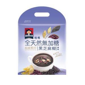 [桂格] 全天然無添加糖超級穀珍-黑芝麻糊風味 (23.5g*10包/袋)