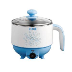 [小太陽] 1.0L 304不鏽鋼蒸煮兩用美食鍋 (天空藍) TR-100