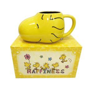 [Snoopy] 糊塗塌客Woodstock造型馬克杯/麥片/湯杯 (460ml)