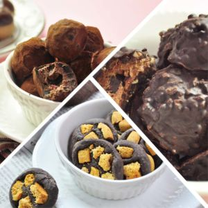 [查克派] 蛋白質巧克力 - 經典榛果巧克力球x1+松露莓果巧克力球x1+海鹽餅乾巧克磚x1 (3包/組)
