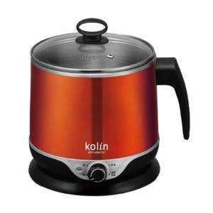 [歌林Kolin] 隔熱不鏽鋼美食鍋 (橘金/1.5L)