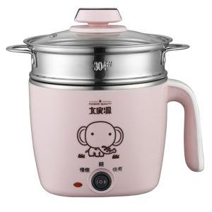 [大家源]  1.5L 304不鏽鋼蒸煮燉美食鍋(甜⼼粉) TCY-2743R