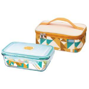 [FORUOR] 金色年華耐熱玻璃保鮮盒提袋組 (800ml)