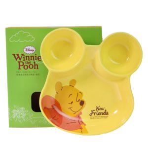 [Disney] 歡樂維尼陶瓷分隔盤-維尼