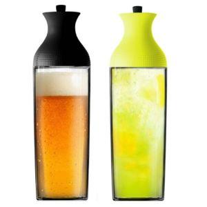 [MIX] 歐風冷飲瓶組合 - 1100ml 玻璃胡頸瓶 *2 (黑色&黃色)