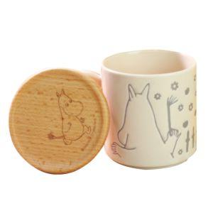 [Moomin嚕嚕米] 嚕嚕米馬克杯 300ml (附木製杯蓋)