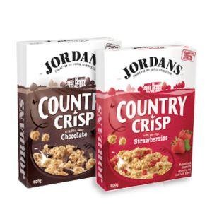 [即期品] [英國Jordan's]黑可可燕麥脆片(500g/盒) & [英國Jordan's]草莓燕麥脆片(500g/盒) 情人組 {效期: 2019-05-09}