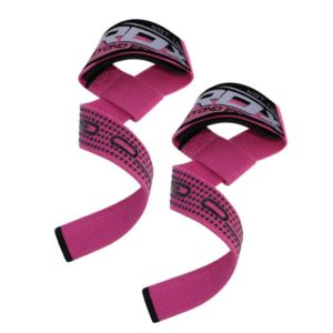 [英國 RDX] 防滑材質⾼質感助⼒帶-粉紅(重訓/舉重/硬舉適用)