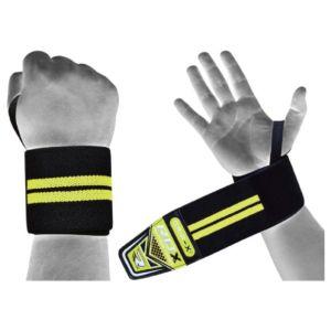 [英國 RDX] 運動護腕帶-⿊螢光綠(重訓/舉重/蹲舉/硬舉適用)