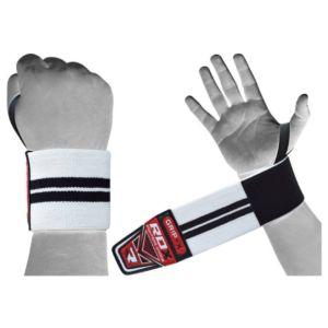 [英國 RDX] 運動護腕帶-白底黑線(重訓/舉重/蹲舉/硬舉適用)